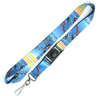 High quality rainbow sublimation printed polyester lanyards