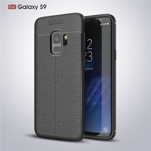 Galaxy S9 Phone Accessory Wholesale Lichee Grain Soft TPU Leather Cellphone Case For Samsung Galaxy S9