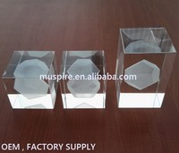 China cheap clear 3d laser engraved crystal glass block wholesale