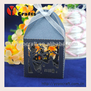 favorable price for laser cut black interesting gift box for Halloween decoration