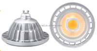 AR111 15W COB GU10 led spot lamp DC12V thermal plastic /Aluminium 400lm led lighting