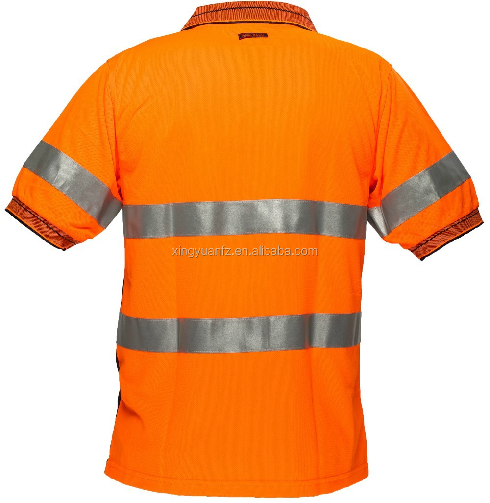 Construction 100 polyester safety work uniform breathable for Work uniform polo shirts