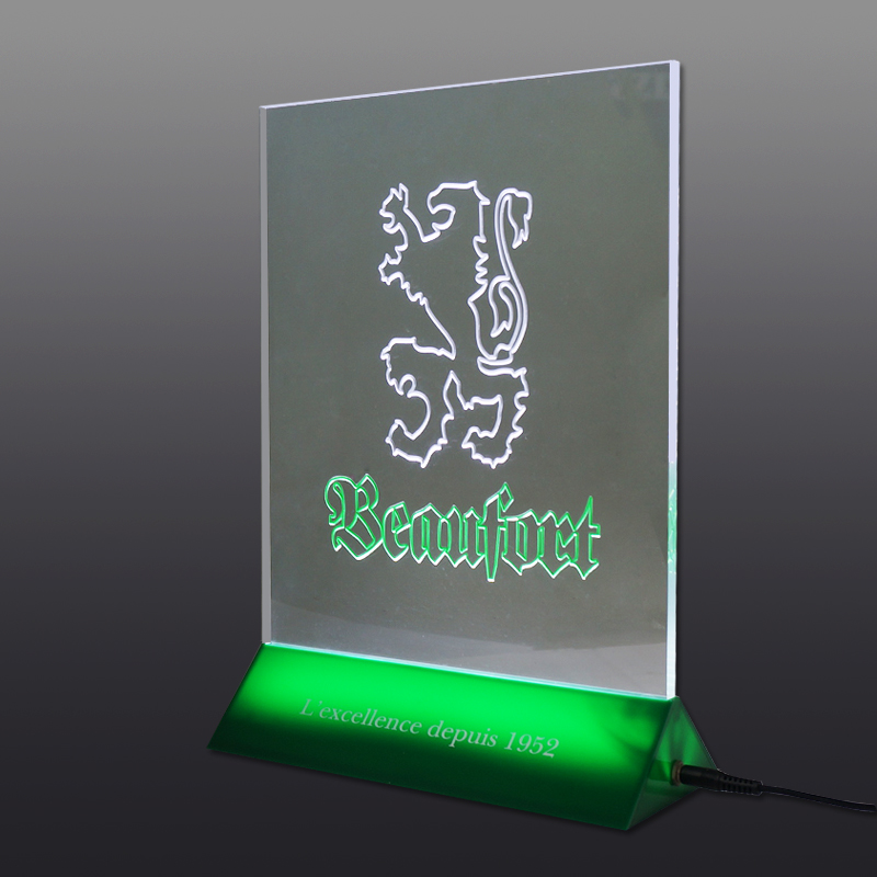 High Quality pmma rechargeable LED Lighting Menu Holder