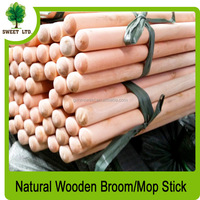 Natural wooden poles for broom with checp price
