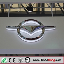 Car Logo Advertising Sign Outdoor Translucent Acrylic Illuminated Led Car Logo