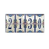 Porcelain Art Deco House Number Tile