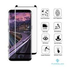 Full Coverage 3D Curved High Definition Ultra Clear Film Anti-Bubble Lifetime Replacement Tempered Screen Cover for Galaxy S8