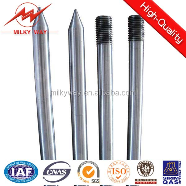 hot dip galvanizing ground rod OEM earth rod