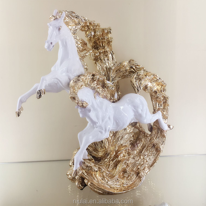 Home furniture resin animal ornament horse sculpture for office