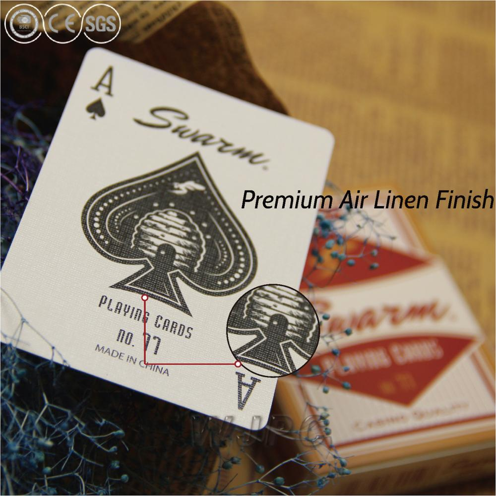 Linen finished Standard Playing Cards With Custom Logo Printing