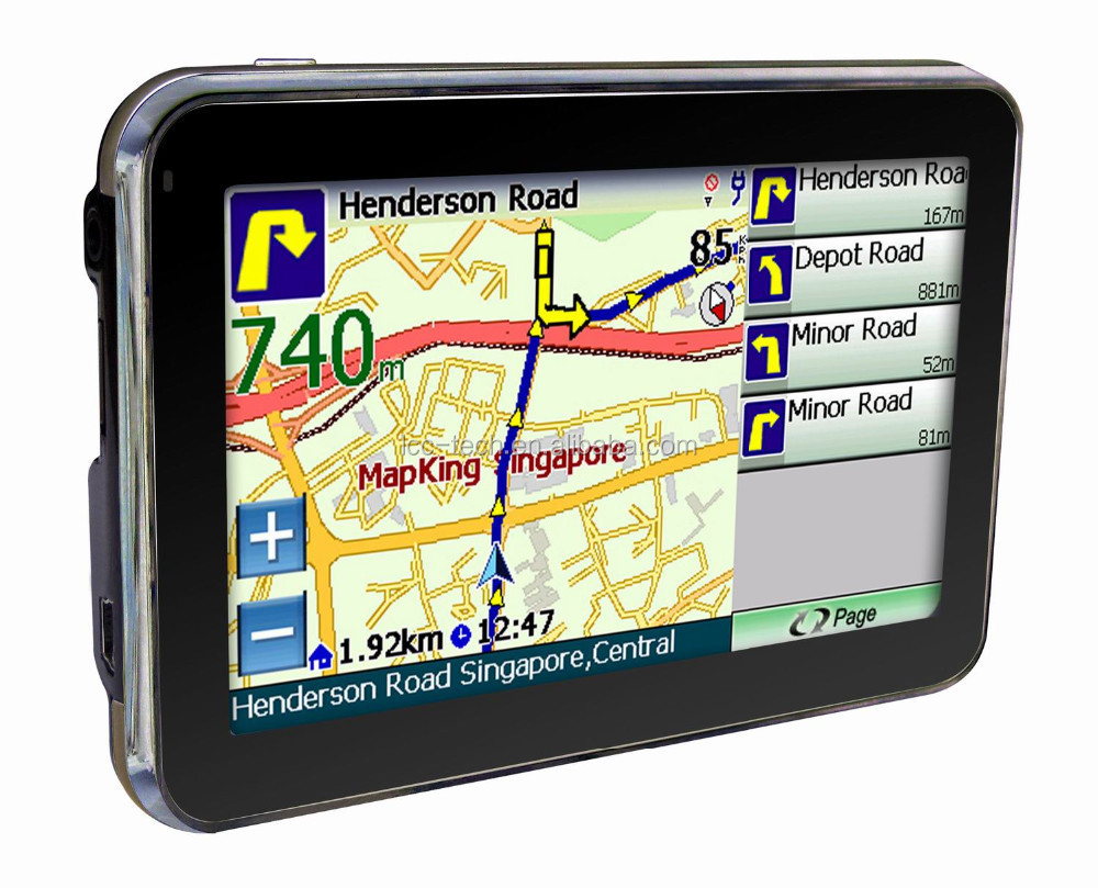 "4.3"" CAR GPS NAVIGATION SYSTEM SAT NAV MP3 MP4 FM 3D UK EU MAP"
