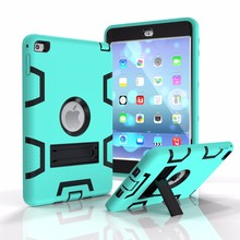 Pc Silicone 2 in 1 Case For Apple iPad Air 2 Case For iPad 6 Shockproof Case