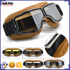 BJ-GT-011 Recommended Adult Yellow Leather Motorbike Motorcycle Glasses Goggles Steampunk
