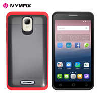 IVYMAX wholesale mobile case brushed metallic 2 in 1 phone case for Alcatel fierce4
