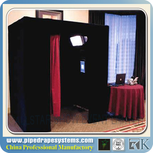Portable Standing Photo Booth Equipment Pipe and Drapes