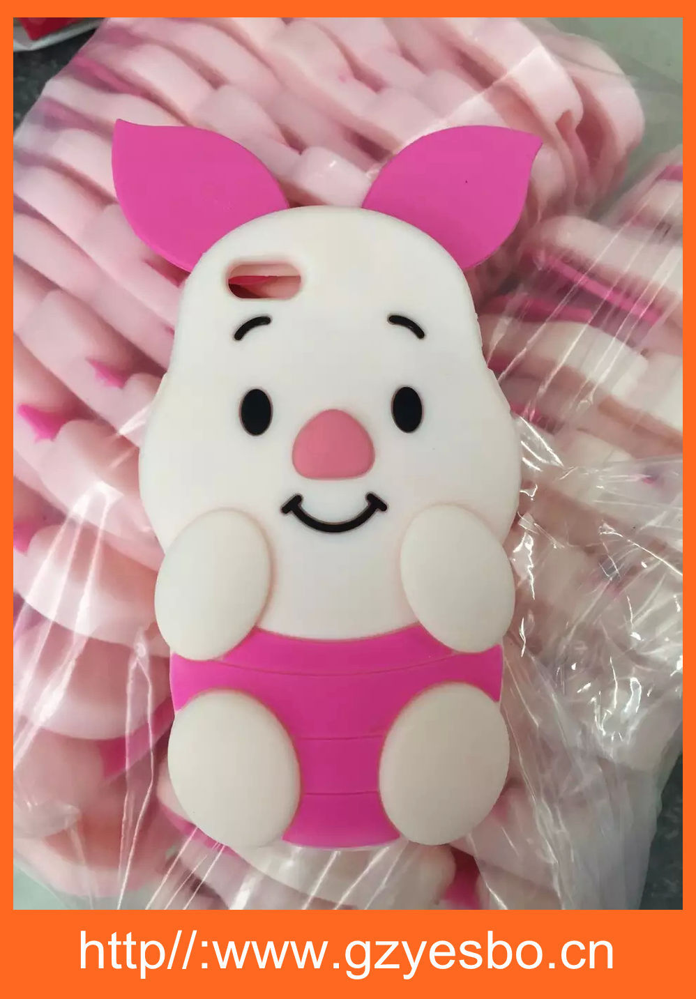 Lovely 3D Pig Silicone Case Back Cover Skin for Apple iPhone 6 4.7""