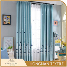 Top quality 2018 popular embroidery luxury blackout curtain modern