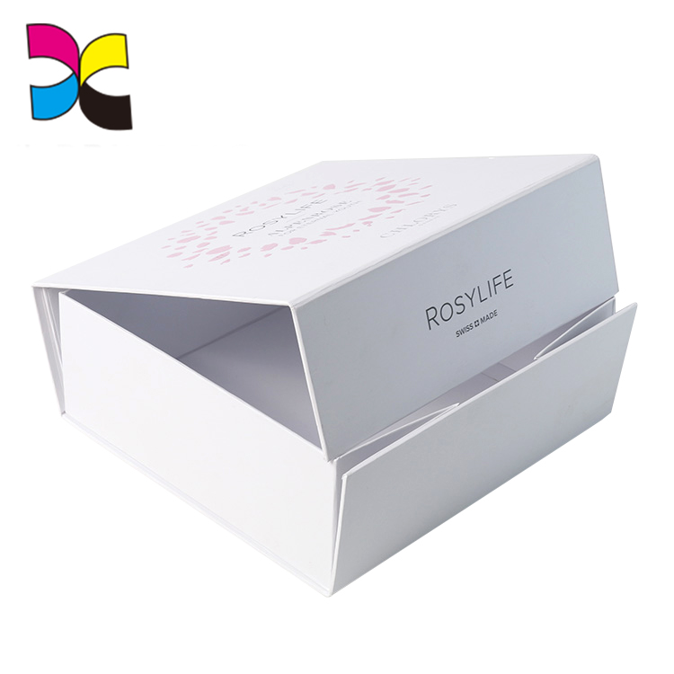 Foldable flat pack gift box factory with ribbon