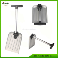 anodized aluminum blade, any color available, foldable, Multifuncational Car Snow Shovel