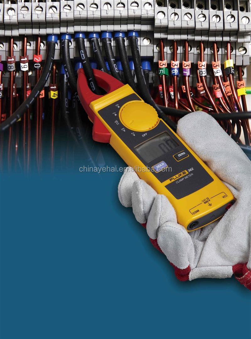600V 200A Low Current Digital AC DC Calmp Meter Fluke-362 & Handheld Clamp Meter