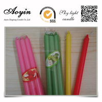 high quality 21g colorful candles aroma candles message candles