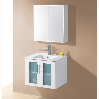 glass doors bathroom cabinet
