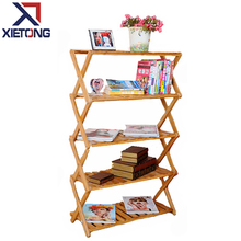 Home Furniture Simple Bamboo Folding Shoe Rack Shelf 50 Pair
