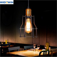 retro style hanging light small size D150mm iron cage pendant lamp for indoor lighting droplight
