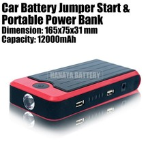 12V Car Jump Starter 12000mAh Portable Power Bank Emergency Tools for Emergency Car Starting Made in China