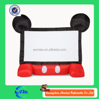 mickey infltable advertising screen inflatable movie and tv screen for sale