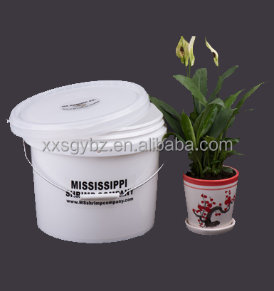 wholesale 1 gallon white plastic buckets with lid