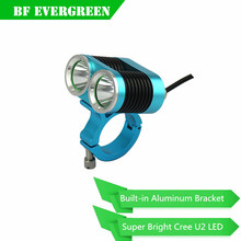 Hot 2T6 bike led light strong bright aluminum frame U2 LED bike light
