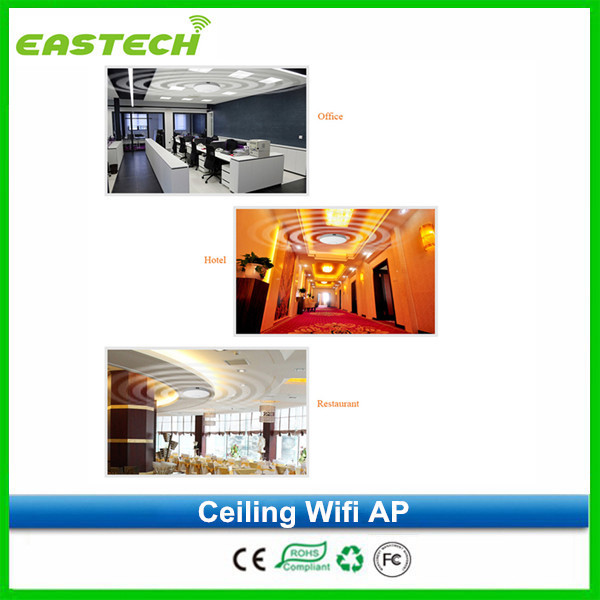 OEM factory 300Mbps ceilling mount wifi AP hotel wifi AP with 48V POE support VLAN