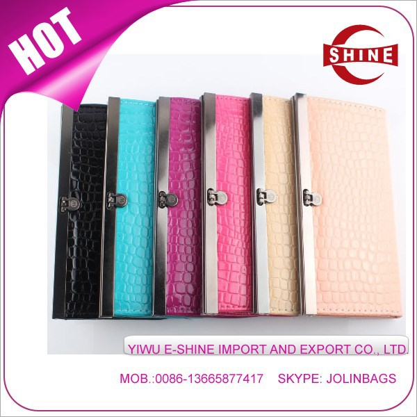 Wholesale popular design Cheap ladies clutch bag purse / wallet