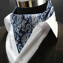 Hot For Men's Paisley Gentlemen Silk Scarves/Cravat Ascot Ties