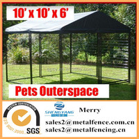 10'X10'X6' Pet Dog Chicken Pup Cat Enclosure Run Cage Kennel Yard