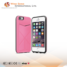 For card slot standing iphone 6plus case, for apple, for iphone 6