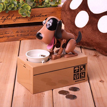 Wholesale Plastic Piggy bank Dog eating money coin bank money box for kids