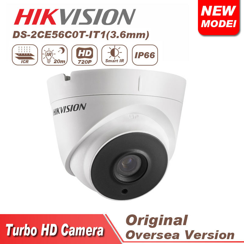 DS-2CE56C0T-IT1 night vision camera TVI HD720P EXIR Bullet Camera hikvision cctv camera
