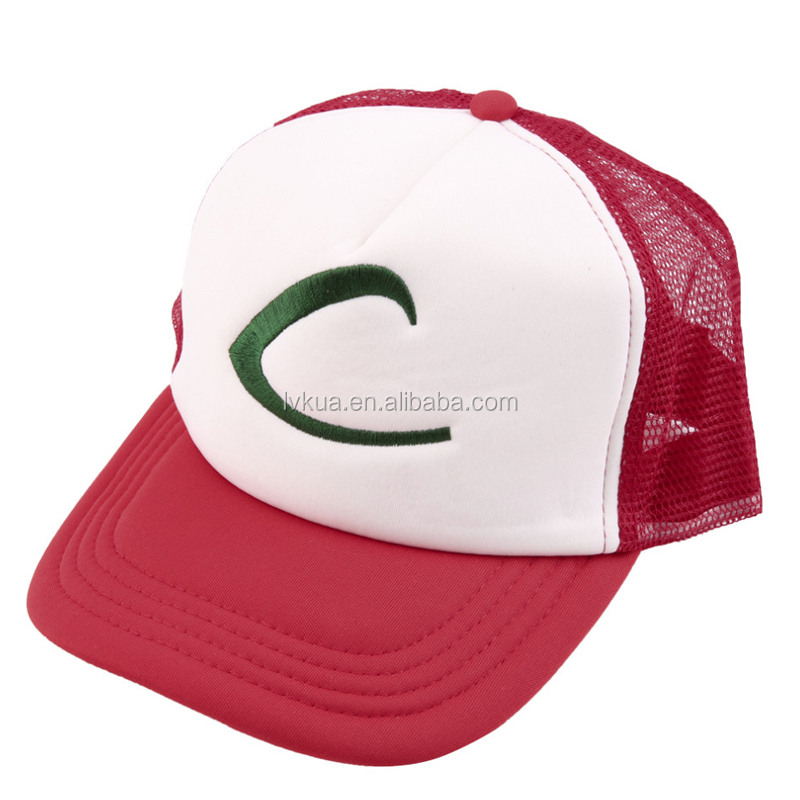 Casual Outdoor Sports Cartoon Hat Ash Ketchum Fans Costume Party