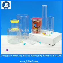 Custom Clear Plastic Cylinder Tubes Packaging For Candy