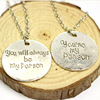 2016 Newest Grey Anatomy Necklace Hot Sales Letter You Are My Person, You Will Always Be My Person Pendant Necklace Wholesale