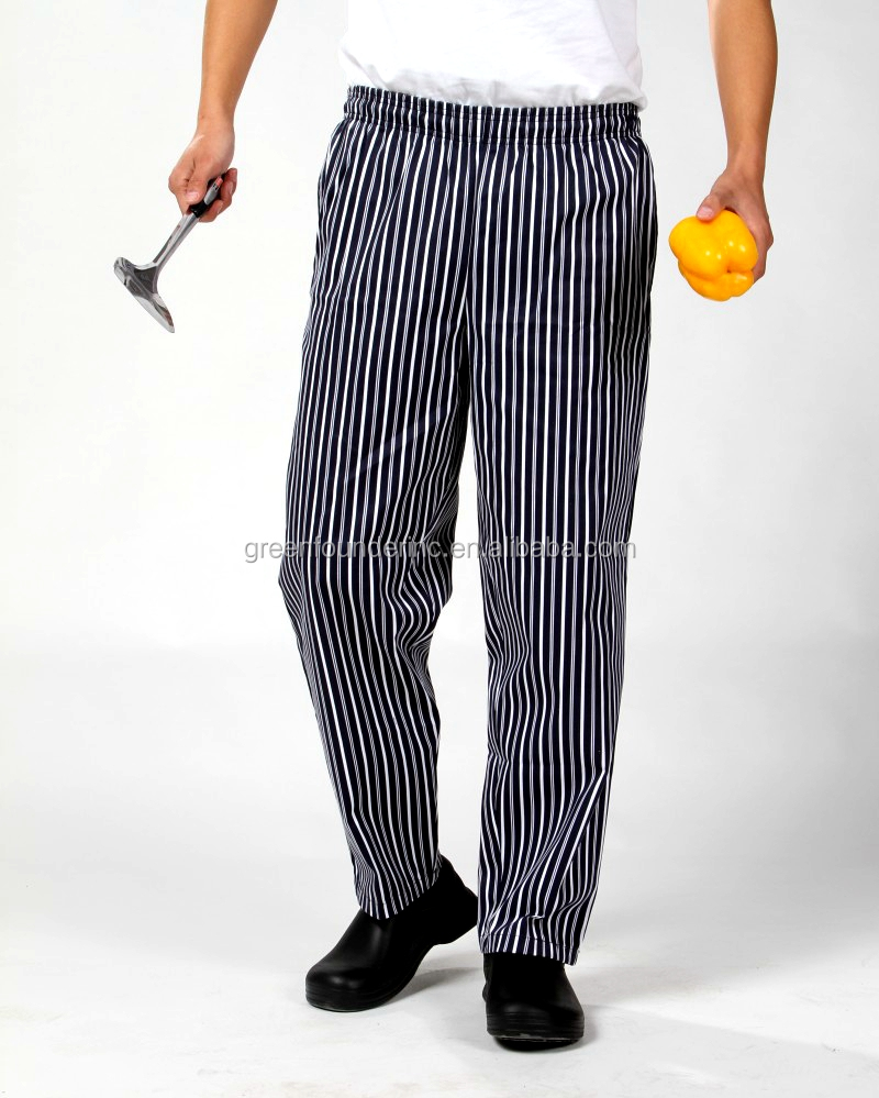 Blue Strips 100% cotton Chef Pants Worker Uniforms for sale