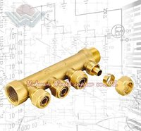 WD-3204 Brass 4 way manifold