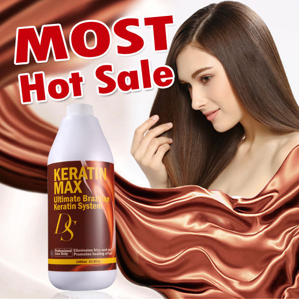 Wholesale hair salon supply eliminates frizz and curl brazilian keratin hair treatment