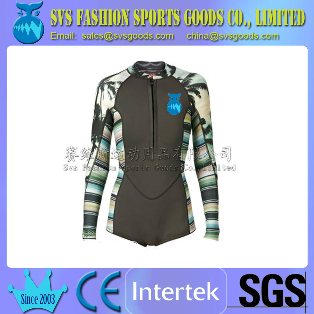 2mm Long Sleeve Shorty Wetsuit for surfing