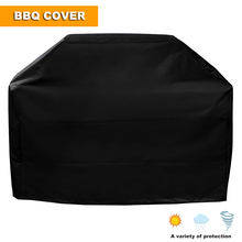 black Grill Cover of Medium 58-Inch BBQ Cover Waterproof Heavy Duty Gas Grill Cover