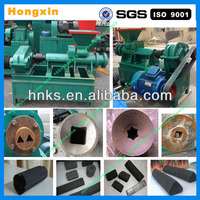 High efficiency durable coal and charcoal extruder machine