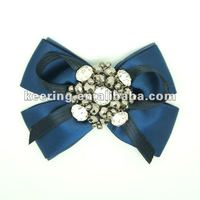 blue pearl bowknot delicate beaded flower patch for shoes--1386 -1