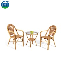 DW-ZW045 Balcony furniture set new product metal garden furniture bamboo table and chairs
